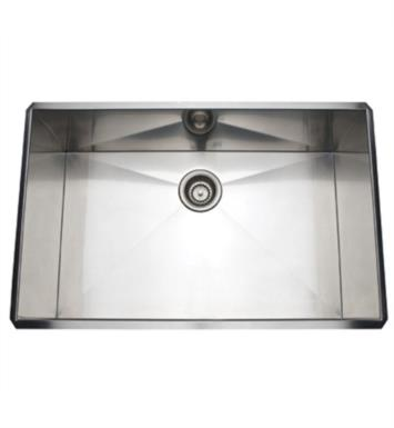 "Rohl RSS3018SC 31 1/2"" Single Bowl Undermount Stainless Steel Kitchen Sink With Finish: Stainless Copper"
