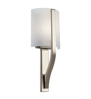 Kichler Freeport Collection Wall Sconce 1 Light Fluorescent in Polished Nickel