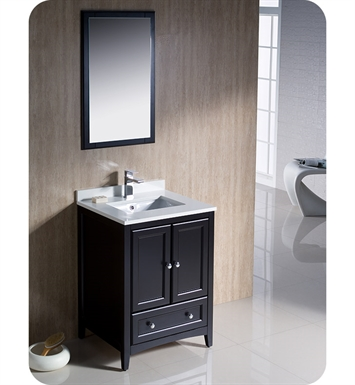 "Fresca FVN2024ES Oxford 24"" Traditional Bathroom Vanity in Espresso"