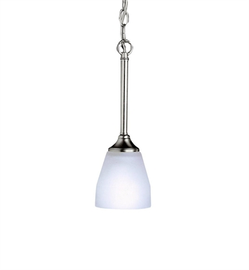 Kichler 3345NI Ansonia Collection Mini Pendant 1 Light in Brushed Nickel