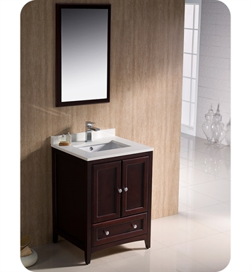 "Fresca FVN2024MH Oxford 24"" Traditional Bathroom Vanity in Mahogany"