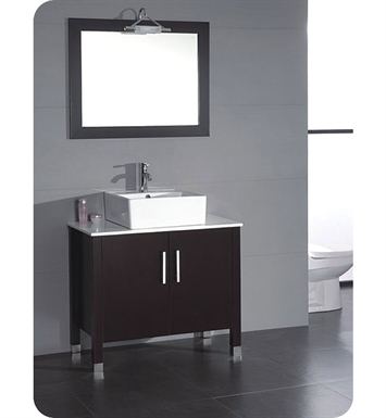 Cambridge Plumbing 8117-BN 36 inch Bathroom Vanity Set With Faucet Finish: Brushed Nickel