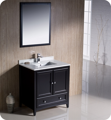 "Fresca FVN2030ES Oxford 30"" Traditional Bathroom Vanity in Espresso"