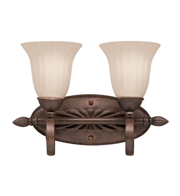 Kichler 5927TZ Willowmore Collection Bath 2 Light in Tannery Bronze