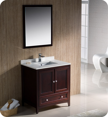 "Fresca FVN2030MH Oxford 30"" Traditional Bathroom Vanity in Mahogany"