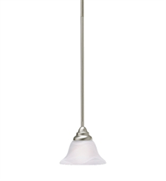 Kichler Telford Collection Mini Pendant 1 Light Fluorescent in Brushed Nickel