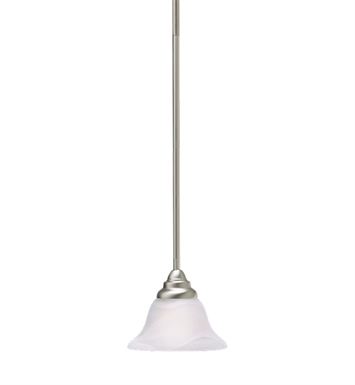 Kichler 10707NI Telford Collection Mini Pendant 1 Light Fluorescent in Brushed Nickel