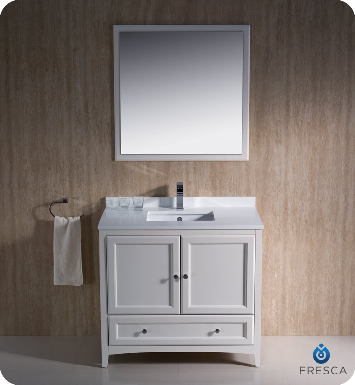 Fresca Fvn2036aw Oxford 36 Traditional Bathroom Vanity In Antique White