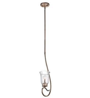 Kichler 43241BRSG Malina Collection Mini Pendant 1 Light