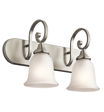 Kichler 45054NI Monroe Collection Bath 2 Light in Brushed Nickel