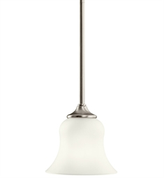 Kichler Wedgeport Collection Mini Pendant 1 Light Fluorescent in Brushed Nickel