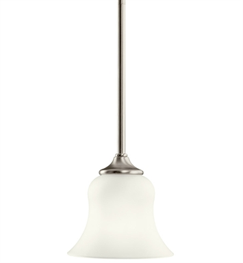 Kichler 10743NI Wedgeport Collection Mini Pendant 1 Light Fluorescent in Brushed Nickel