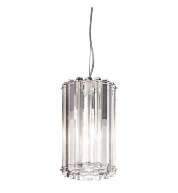 Kichler 42174CH Crystal Skye 1 Light Incandescent Mini Pendant in Chrome