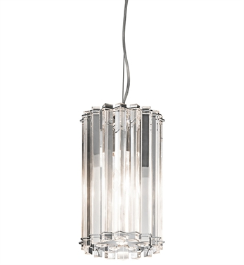 Kichler 42174CH Crystal Skye Collection Mini Pendant 1 Light in Chrome