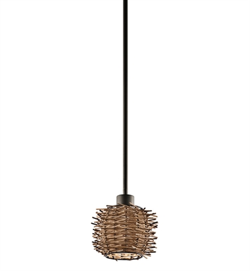 Kichler 43235OZ Twigs Collection Mini Pendant 1 Light in Olde Bronze