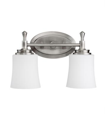 "Kichler 5360NI Wharton 2 Light 13 3/4"" Incandescent Wall Mount Bath Light in Brushed Nickel"