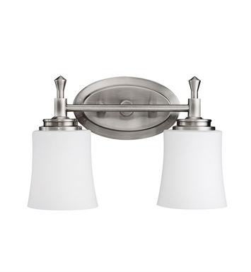 Kichler 5360NI Wharton Collection Bath 2 Light in Brushed Nickel