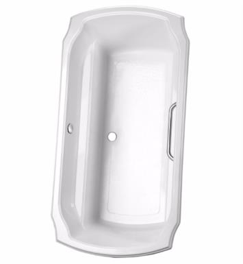 "TOTO ABY974N#12YPN Guinevere 71 1/2"" Acrylic Freestanding Soaker Bathtub with Optional Grab Bars With Finish: Sedona Beige And Grab Bar Finish: Polished Nickel"