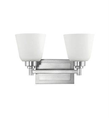 Kichler 5149NI Berwick Collection Bath 2 Light in Brushed Nickel