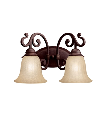 Kichler 5988CZ Wilton Collection Bath 2 Light in Carre Bronze