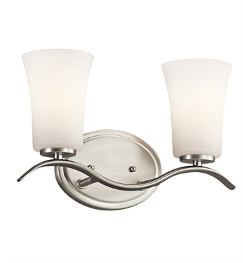 Kichler 45375NI Armida Collection Bath 2 Light in Brushed Nickel