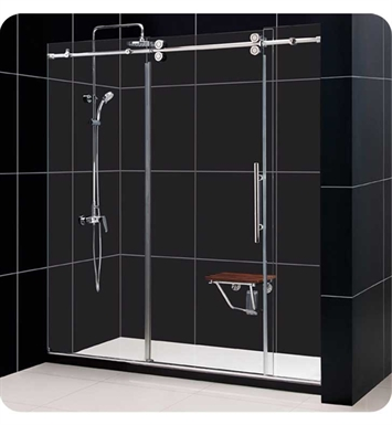 DreamLine SHDR-60 Enigma Fully Frameless Sliding Shower Door