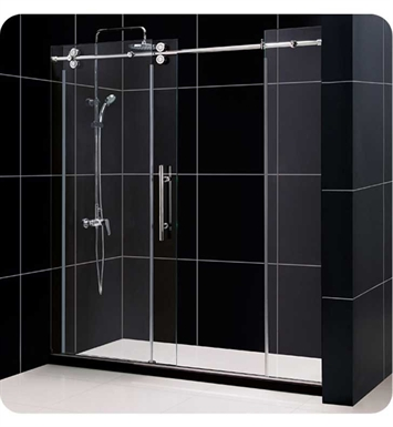 "DreamLine SHDR-60727912-07 Enigma Sliding Shower Door With Dimensions: W 72"" x H 79"" And Finish: Brushed Stainless Steel"
