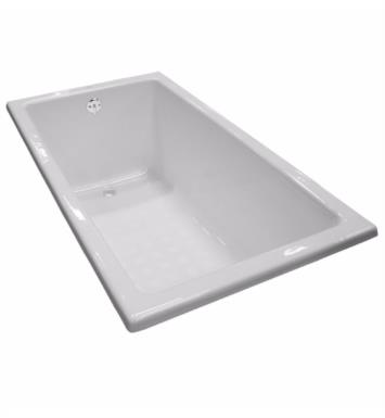 "TOTO FBY1550P#01 59 1/8"" Cast Iron Drop-In Soaker Bathtub With Finish: Cotton"