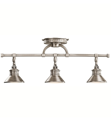 Kichler 42439AP Sayre Collection Fixed Rail 3 Light Halogen in Antique Pewter