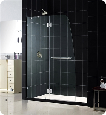 DreamLine SHDR-3345728-01 Aqua Lux Shower Door Clear Glass With Finish: Chrome