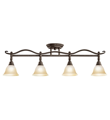 Kichler 7744DBK Pomeroy Collection Fixed Rail 4 Light Halogen in Distressed Black