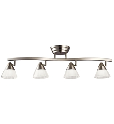 Kichler Fixed Rail 4 Light LED in Brushed Nickel
