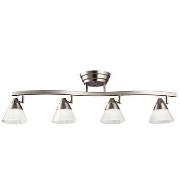 Kichler 10325NI Fixed Rail 4 Light LED in Brushed Nickel