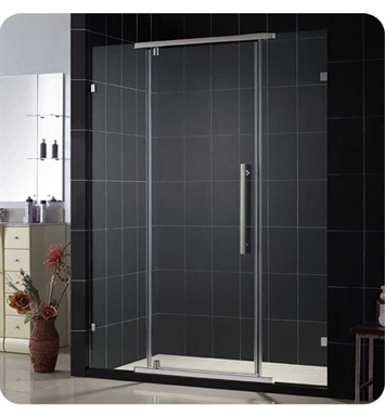 "DreamLine Vitreo-SHDR-21467610-04 Vitreo Shower Door With Dimensions: W 46 1/8"" x H 76"" And Finish: Brushed Nickel"