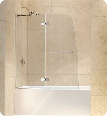 DreamLine SHDR-3448580 Aqua Ultra 48 in. Frameless Hinged Tub Door