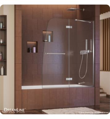 DreamLine SHDR-3448580-04 Aqua Ultra 48 in. Frameless Hinged Tub Door With Finish: Brushed Nickel