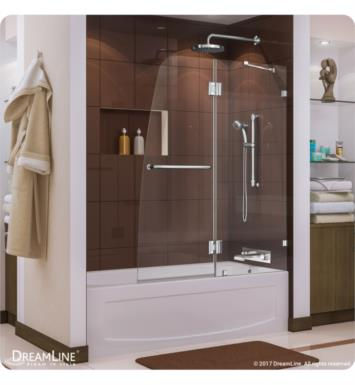 DreamLine SHDR-3348588-01 Aqua Lux 48 in. Frameless Hinged Tub Door With Finish: Chrome
