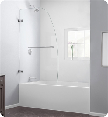 DreamLine SHDR-3534586 Aqua Uno Tub Door Clear Glass