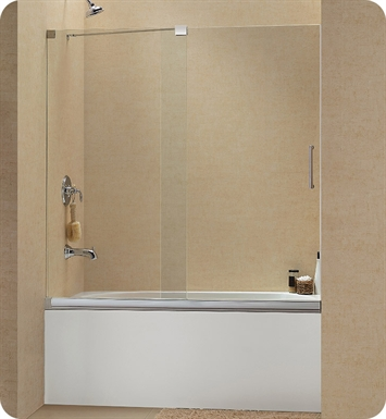 "DreamLine Mirage-Tub-SHDR-1960582-01 Mirage Sliding Tub Door With Dimensions: W 56 to 60"" x H 58"" 