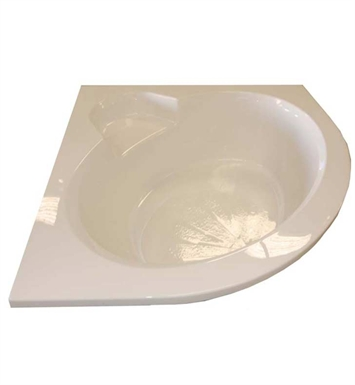 "American Acrylic BR-44C 60""x60"" Corner Bathtub with Seat With Jet Mode: Combo (Whirlpool & Air Jets)"