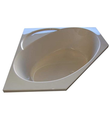 "American Acrylic BR-49C 48""x48"" Corner Bathtub With Jet Mode: Combo (Whirlpool & Air Jets)"