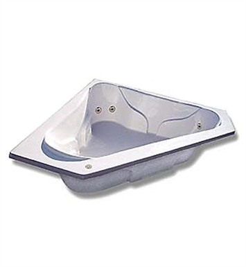 "American Acrylic BRA-72A 72""x72"" Corner Bathtub with Arm Rest and Head Rest With Jet Mode: Air (16 jets)"