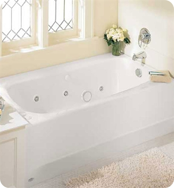 "American Standard 2460.128WC Cambridge 5' X 32"" Americast Whirlpool Bathtub"