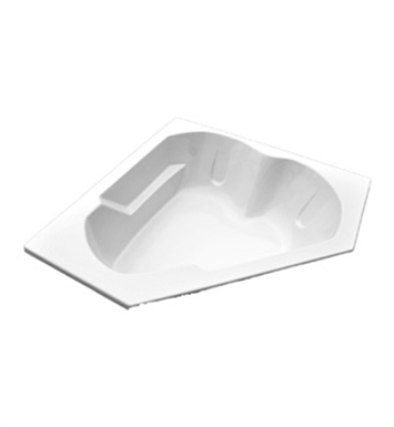 "American Acrylic BRA-55W 60""x60"" Corner Bathtub With Jet Mode: Whirlpool (8 jets)"