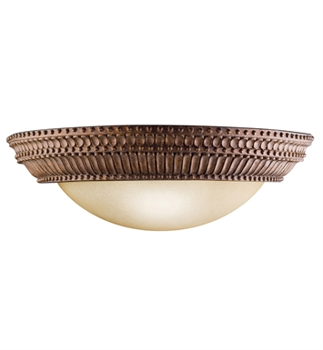 Kichler 6513TZG Larissa Collection Wall Sconce 2 Light in Tannery Bronze with Gold Accent