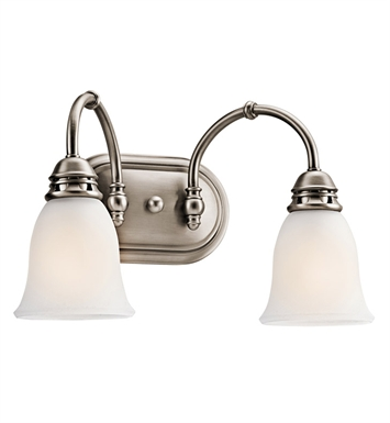 Kichler 45065AP Durham Collection Bath 2 Light in Antique Pewter