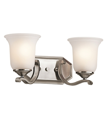 Kichler 45402CLP Wellington Square Collection Bath 2 Light in Classic Pewter