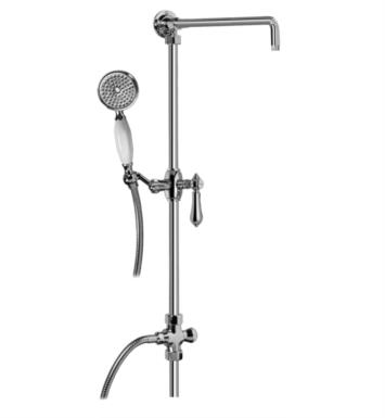 "Graff G-8934-LC1S-PC Canterbury 40 3/8"" Exposed Riser with Handshower With Finish: Polished Chrome And Handles: LC1S Handle"