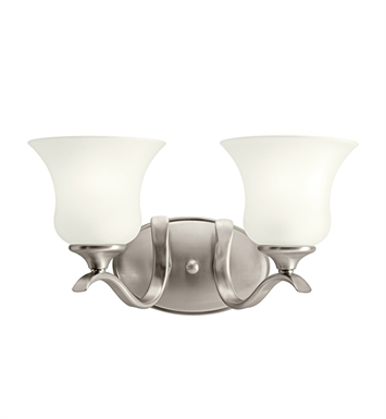 Kichler 10637NI Wedgeport Collection Bath 2 Light Fluorescent in Brushed Nickel