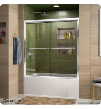 DreamLine SHDR-1260588-01 Duet 56 to 59 in. Frameless Bypass Sliding Tub Door With Finish: Chrome
